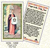 Saint Veronica Holy Face. Laminated 2-Sided Holy Card (3 Cards per Order)