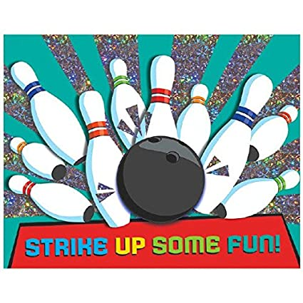 Amazon bowling party large novelty invitation cards foil 6 x bowling party large novelty invitation cards foil 6quot x 4quot stopboris Image collections