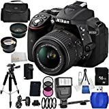 Nikon D5300 Digital SLR Camera with 18-55mm VR Lens Kit. Includes: Wide Angle & Telephoto Lenses, 3 Piece Filter Kit (UV-CPL-FLD), 4 Piece Macro Filter Set (+1,+2,+4,+10), 16GB Memory Card, Tripod, Carrying Case & More