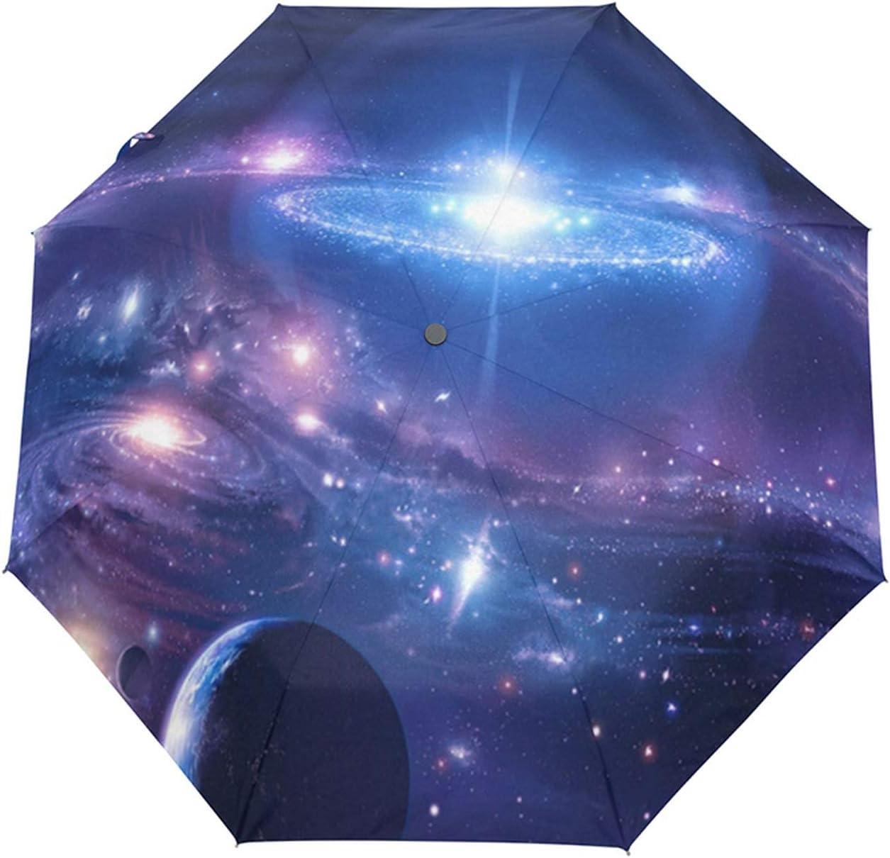 Galaxy Space Universe Nebula Cloud Custom Foldable Men Rain Umbrella Folding Travel Male Umbrella Rainy Windproof Parapluie,Full automatic