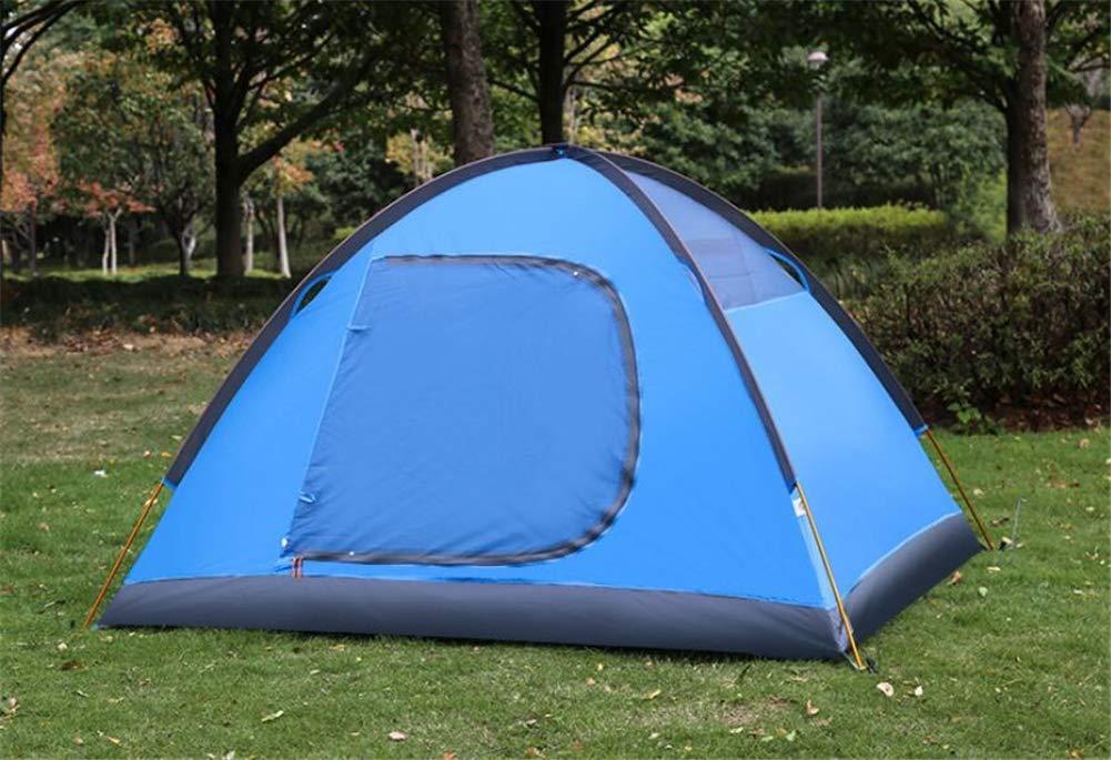 Zelt, 2 Personen Camping Portable Zelt Aluminiumstange Portable Camping Doppel-Schicht Wasserdichte Outdoor-Sorrektur Tourist Family Zelte fcc257