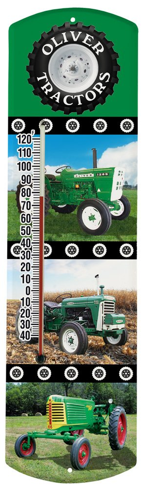 Heritage America by MORCO 375TOL Tractor-Oliver Outdoor or Indoor Thermometer, 20-Inch