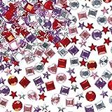 Lot de 200 Bijoux Strass Acryliques Autocollants - Idéal pour la Création de Carte de Fête des Mères, St Valentin