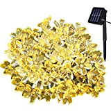Yasolote Waterproof Fairy Lights, Solar Garden Lights, 23ft 7m 50 LED 8 Twinkling Modes, Decorative Outdoor Lighting, Flower String Lights for Home, Gazebo, Patio, Lawn, Yard, Fence, Wedding, Party, Holiday, Festival Ornament (Warm White)