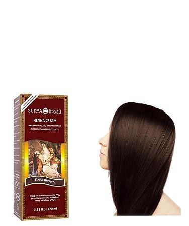 SURYA Brasil - Henna Haarfarbe Creme, dunkelbraun, 1x70ml: Amazon.de ...