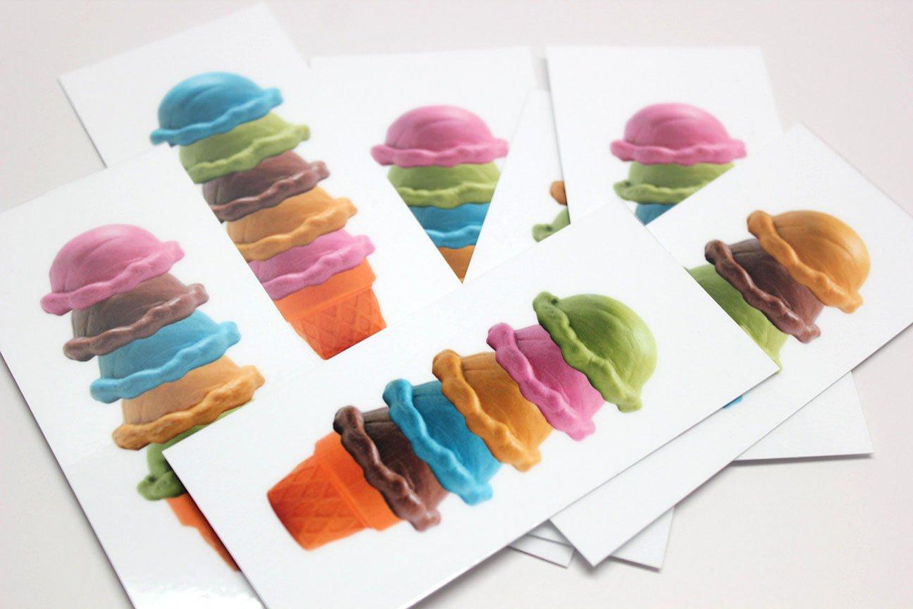 Amazon.com: ICE CREAM Shop – Cono de helado con patrón ...