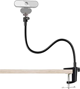 FDKOBE Webcam Stand, Gooseneck Stand,Flexible Desk Mount Clamp Holder Stand for Webcam, Enhanced Desk Jaw Clamp for Logitech Webcam C920,C922,C922x,C930,C615,C925e,Brio 4K