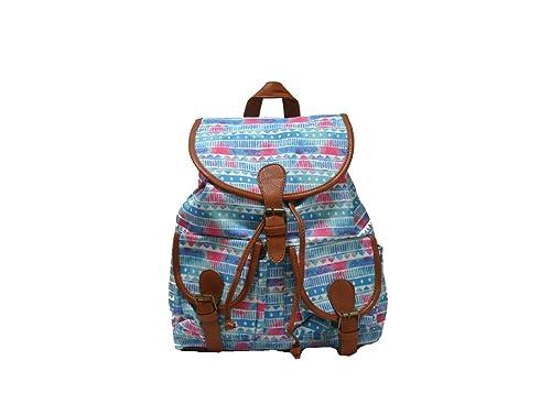 JustGlam - Señor mochila mochila muchachas étnicas Retro lienzo mochila bolsa versátil bolsa casual para el ocio / var43: Amazon.es: Zapatos y complementos
