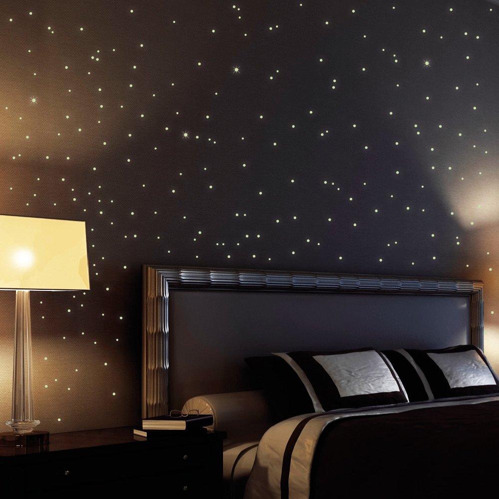 Wandtattoo loft sternenhimmel 203 fluoreszierende leuchtpunkte ...