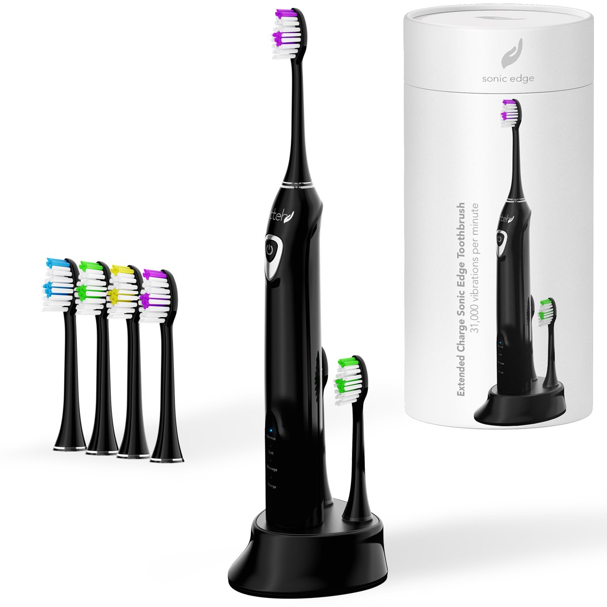 Amazon.com: Electric Toothbrush Sonic Edge with Extended Battery ...