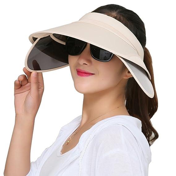 3c1014a6b6c Flyou Sun Hats Unisex Summer Hat Outdoor UV Protection Wide Large Brim Cap  Beach Visor Empty