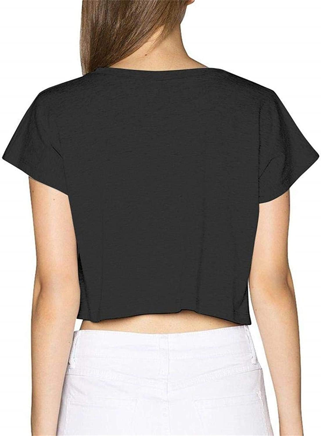 Seuriamin The Pretty Reckless Going to Hell Womens Simple Short Sleeve Leak Navel Crew Neck T Shirts