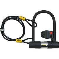 SIGTUNA Fahrradschloss – 16mm Bügelschloss mit Montagehalterung + 1200mm Flex Kabelschloss