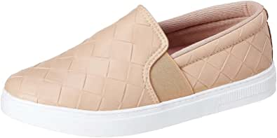 Club Aldo Contrast Sole Embossed Faux Leather Slip-On Shoes for Women
