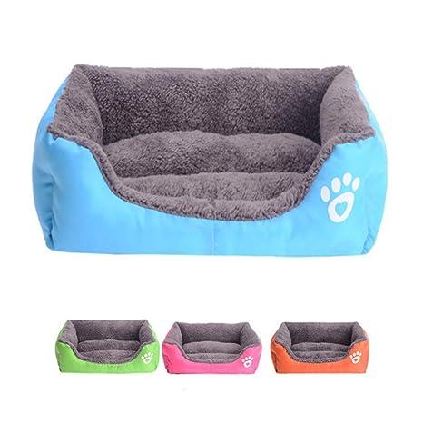 LYX Sofá Cama Rectangular para Mascotas, cómodo cojín, Tela de Lino con diseño de