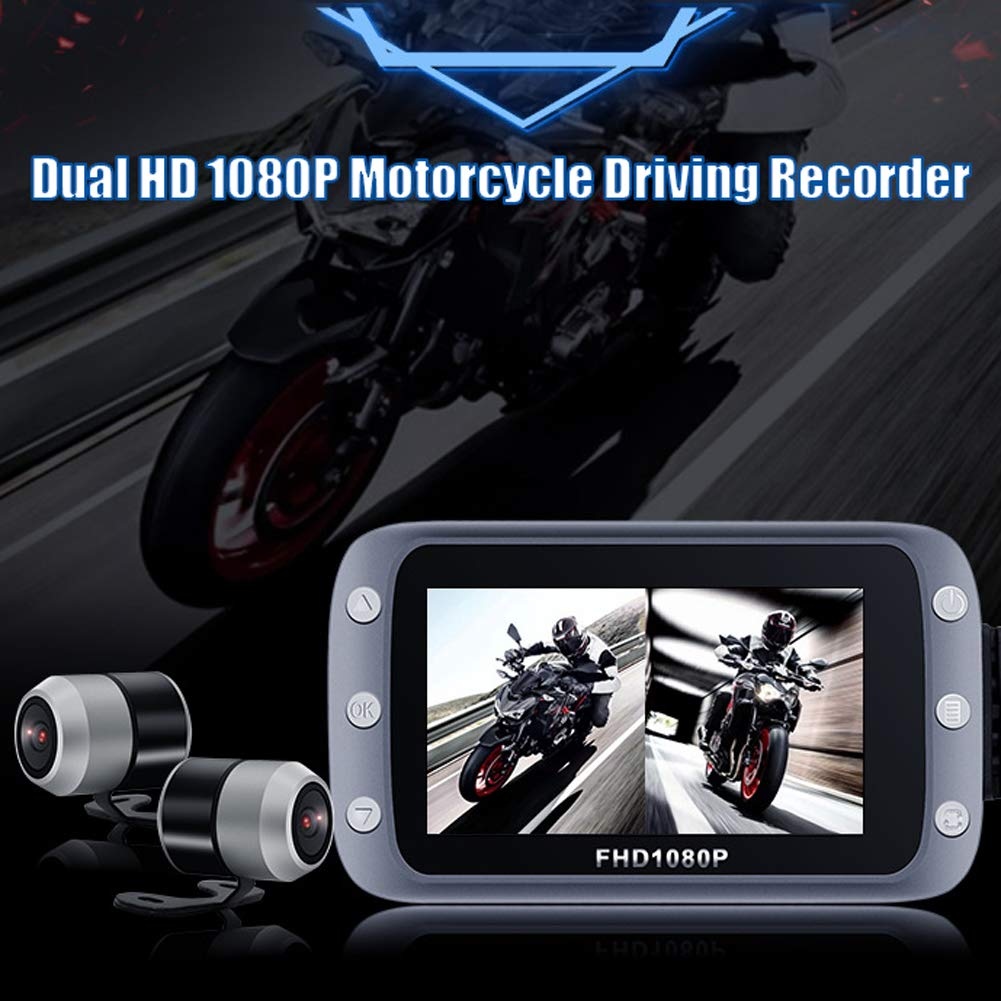 Elliot Jonah Motorcycle Recorder,Motorcycle HD 1080 screen driving recorder Support GPS and WIFI,140 Degree Wide Angle Loop Recording for Outdoor Driving, Travel by Elliot Jonah