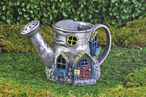 Georgetown Home and Garden Fiddlehead Fairy Village Old Watering Can Home, 5.5″