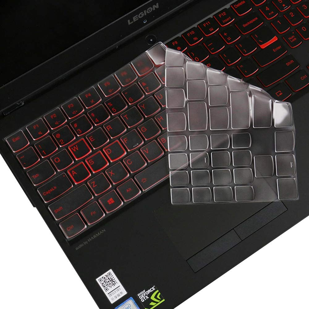 "imComor Ultra Thin Soft Clear TPU Keyboard Cover for 15.6"" Lenovo Legion Y530 Y7000 Y7000P, 17.3"" Lenovo Legion Y730 Y740 Gaming Laptop Keyboard Protector Keyboard Skin Cover, US Layout"