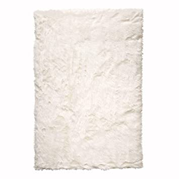Amazoncom Faux Sheepskin Area Rug 5X8 White Kitchen Dining
