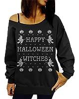 Lymanchi Women Halloween Costume Off Shoulder Tops Casual Pullover Slouchy Sweatshirt