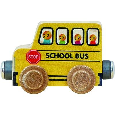 NameTrain School Bus - Made in USA: Toys & Games