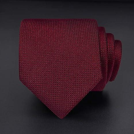 Los Lazos De Seda De Los Hombres Clásicos Corbata Roja Color del ...