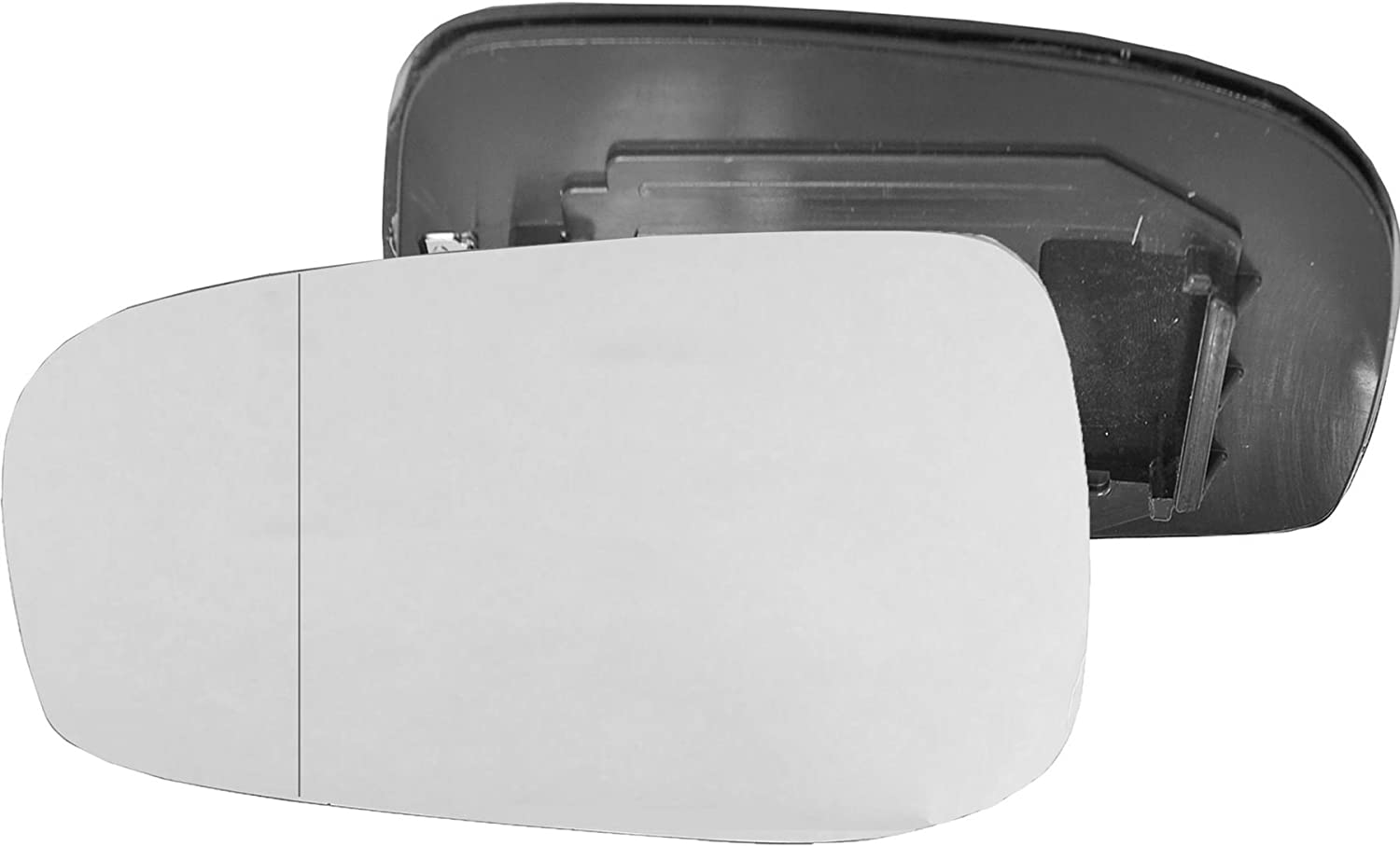 Passenger left hand side Heated wing door Silver mirror glass with backing plate #W-SHY//L-VOV7003 Clip On