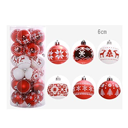 Promisen Christmas Tree Decorative Balls 24pcs Shatterproof