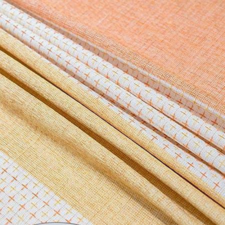 VINER Mantel Algodón Mantel Tejido Moderno Simle Blanco Fresco Naranja Amarillo Color Romántico Decoración de Fiestas Textiles, 140CMx220CM