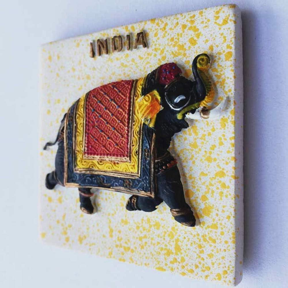 Cuisine Maison D/écoration Inde Aimant de r/éfrig/érateur MUYU Magnet 3D Elephant India Souvenir Aimant de r/éfrig/érateur