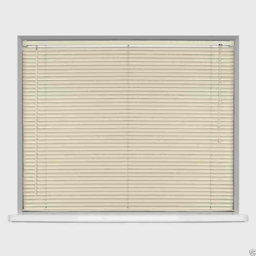 Easy-Fit PVC Venetian Window Blinds Trimmable Home Office Blind New (Ivory/Cream, 120cm x 210cm) Optimal Products