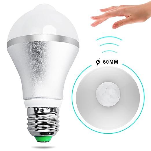16 opinioni per Lampadine Sensore, iRainy E27 7W Lampadina LED con Sensore di Movimento, Bianco