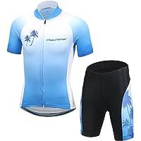 LSHEL Maillot de Ciclismo y Pantalones Cortos