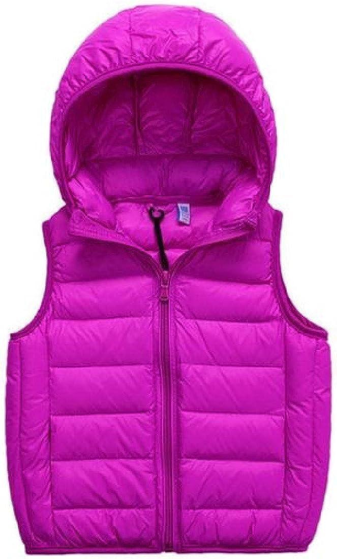 Ruhua Baby Boys Girls Warm Vest Down Coat Lightewight Hooded Outwear