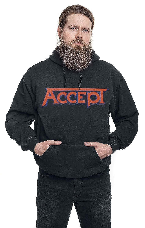 Accept Sweat-Shirt /À Capuche Metal Heart Band Logo Back Print Nouveau Officiel