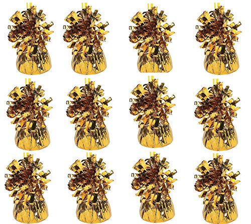 (Playo Metallic Balloon Weights - Pack of 12)