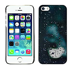 Soft Silicone Rubber Case Hard Cover Protective Accessory Compatible with Apple iPhone? 5 & 5S - light sad dark reflection