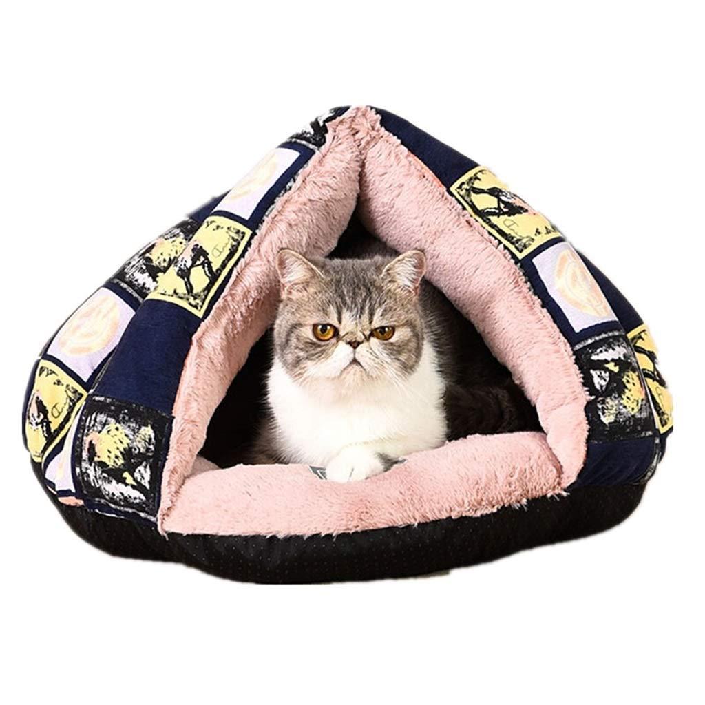 45cm34cm DSADDSD Pet Bed Worm Warm Cat Nest Closed Kennel Mat Washable Pet Supplies (Size   45cm34cm)