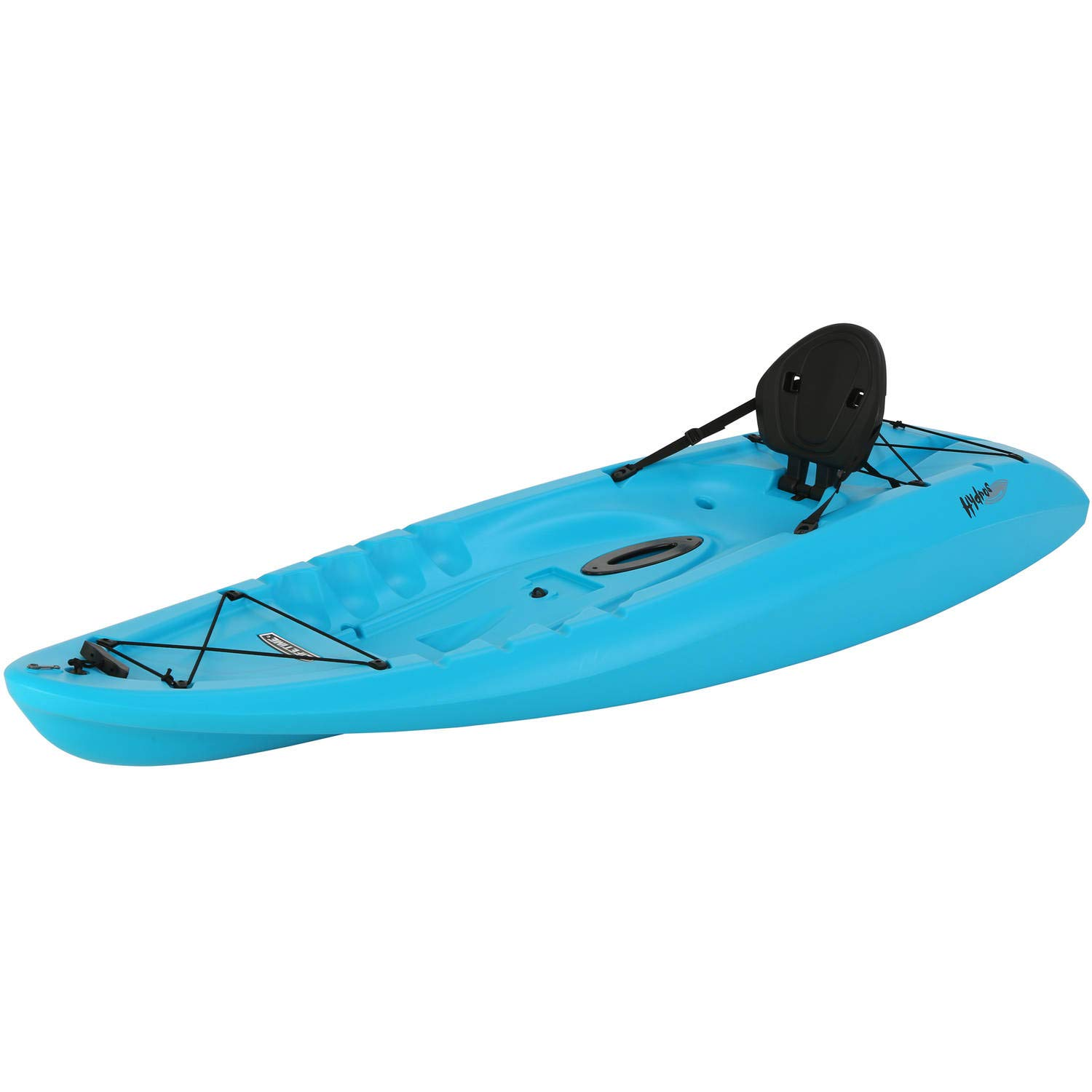 Lifetime Hydros 85 Fishing Holiday Vacation River Lake Sit-On-Top Kayak, Paddle Included (Glacier Blue)
