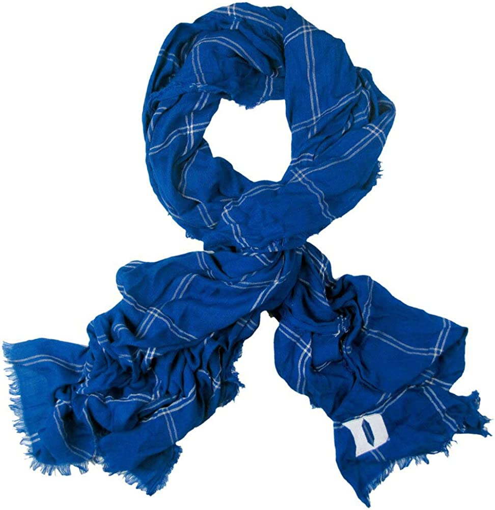Classic Soft Viscose Scarf Zoozatz NCAA Lightweight Grid Iron Large Scarfs for Women