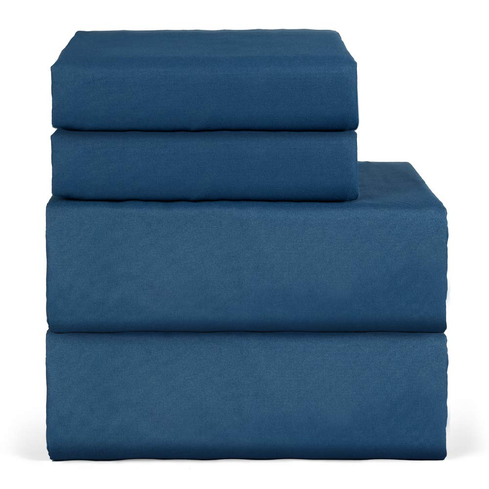 oakome 4 Piece Bed Sheets Deep Pockets Fitted Cool 1800 Thread Count