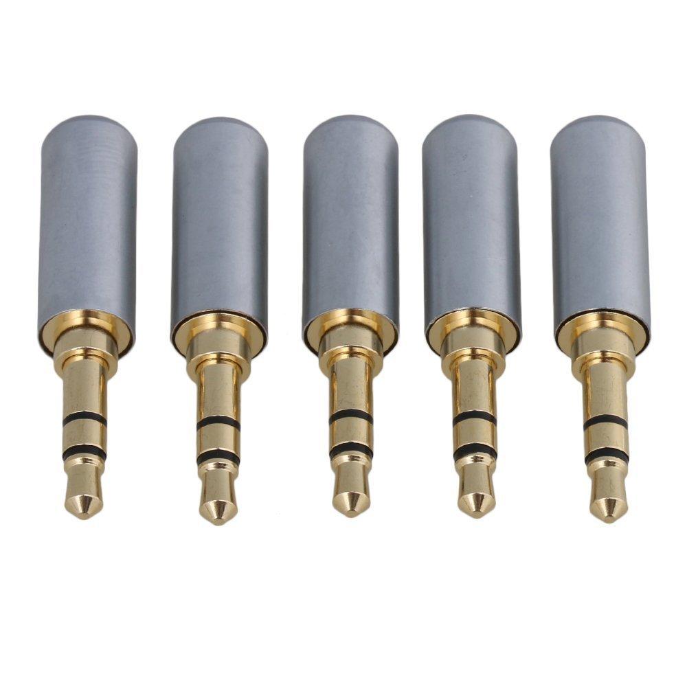 SGerste - Conector de Soldador estéreo Macho DE 3,5 mm Chapado en Oro DE 3,5 mm: Amazon.es: Electrónica