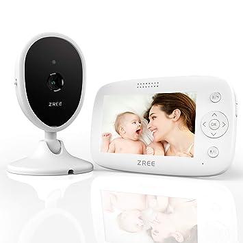 Video /Überwachung Baby Monitor Wireless 3.2 TFT LCD Digital dual Audio Funktion,Gegensprechfunktion,Schlaflieder,Temperatursensor SYOSIN Babyphone mit Kamera Nachtsicht