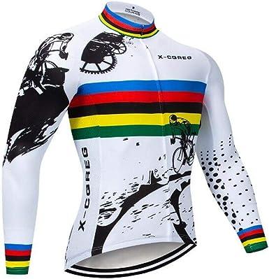 Men/'s Bike Clothing Cycling Long Sleeve Jersey Bib Pants Tights Set Road MTB Pad