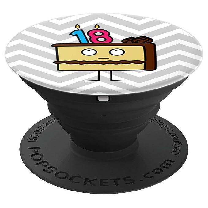 Amazon.com: 18 cumpleaños pastel con velas chocolate ...