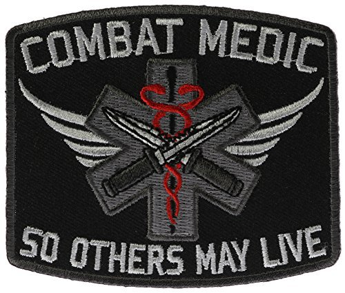 Combat Medic So Others May Live Biker Patch 3 1/2 inch IVANP4605