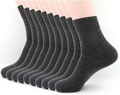 TIGERROSA Medias De Los Hombres Pantalón De Trabajo Para Hombre Calcetines Altos De Algodón Gris 10 Parespantalón De Trabajo Para Hombre Calcetines Altos De Algodón Gris 10 Pares: Amazon.es: Ropa y accesorios