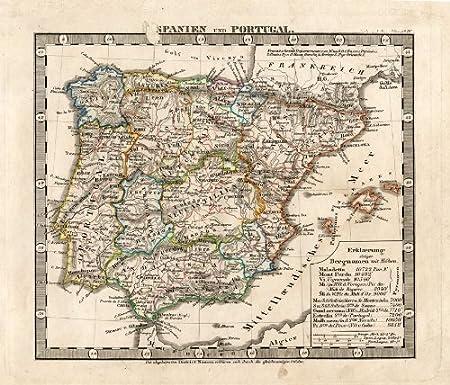 ThePrintsCollector de mapamundi antiguo-España-Portugal-Europa-1850: Amazon.es: Hogar