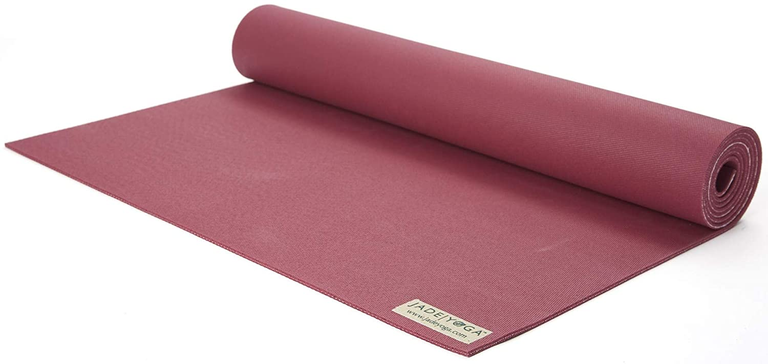 Jade Yoga Harmony Yoga Mat Yoga Mat Designed To Provide A Secure Grip To Help Hold Your Pose 3 16 Thick X 24 Wide X 68 Long Color Raspberry Amazon In Sports