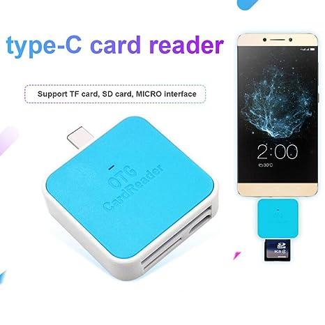 Zreal - Adaptador de Tarjeta de Memoria USB 3.0 Tipo C TF SD ...